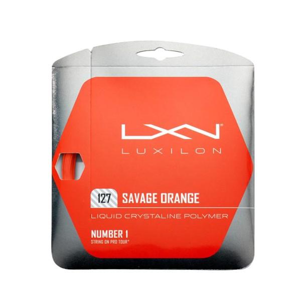 ルキシロン 硬式テニスストリング LUXILON メーカー再生品 SAVAGE ORANGE 127 ストリング 硬式テニス 人気ブランド WRZ994510