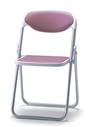 折りたたみ椅子 SF510-MX_X1 パイプ椅子 アルミ脚 粉体塗装 ポリウレタンレザー張り