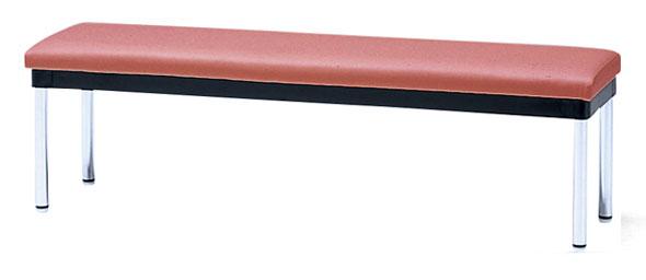 長椅子 CL177-A 幅120cm 背なし ビニールレザー張り ロビーチェア 待合イス