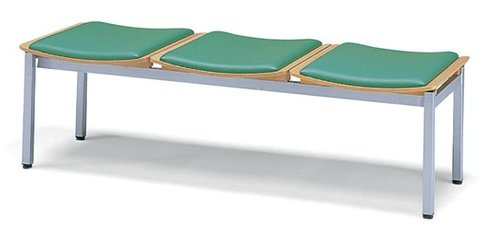 長椅子 CL353-MX 幅148cm 背なし レザー張りパッド付 ロビーチェア 待合イス