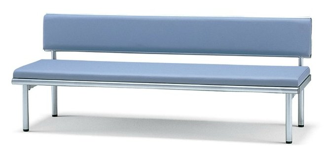 サンケイ 長椅子 CL49-MX 幅180cm 背付 ビニールレザー張り