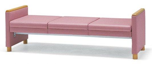 長椅子 CL502-ZX 幅176cm 背なし ビニールレザー張り ロビーチェア 待合イス