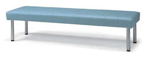 長椅子 CL82-CX 幅180cm 背なし ビニールレザー張り ロビーチェア 待合イス 簡単組立