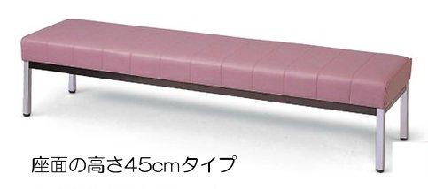 長椅子 CLO1245L-CX 幅120cm 座高45cm 背なし ビニールレザー張り ロビーチェア 待合イス