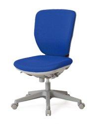 CO252-MYB_X1 オフィスチェア 回転椅子 ガススプリング上下調節 キャスター付 ハイバック 肘なし 布張り