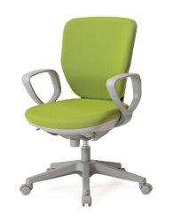 CO253-MYB_X1 オフィスチェア 回転椅子 ガススプリング上下調節 キャスター付 ハイバック 肘付 布張り