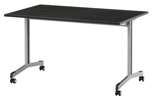 TM1575SUF-MZC 長方形:幅150×奥行75×高さ70cm ミーティングテーブル 会議テーブル T字脚 ダクトカバー キャスター付