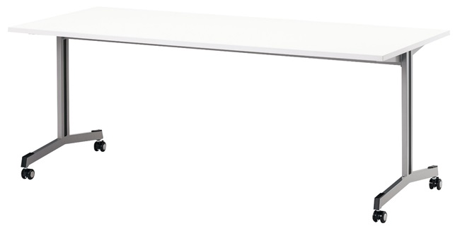 TM1875SUF-MZC 長方形:幅180×奥行75×高さ70cm ミーティングテーブル 会議テーブル T字脚 ダクトカバー キャスター付