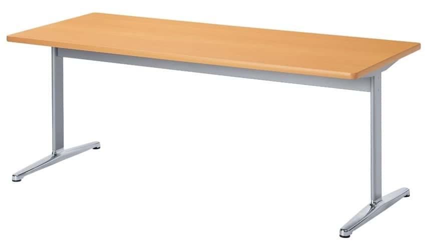TM1875CTH-MZ 長方形:幅180×奥行75×高さ70cm ミーティングテーブル 会議テーブル T字脚 アルミダイキャスト脚
