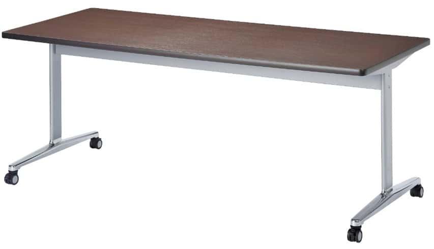 TM1875CTH-MZC 長方形:幅180×奥行75×高さ70cm ミーティングテーブル 会議テーブル T字脚 アルミダイキャスト脚 キャスター付