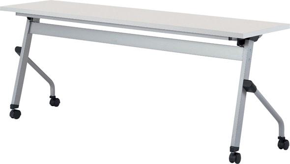 TM1845LCS-M 長方形:幅180×奥行45×高さ70cm ミーティングテーブル 会議テーブル スタック 塗装脚 キャスター付 幕板無し