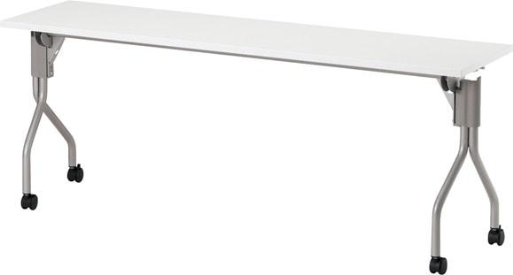 日本製 国産 送料無料でお届けします 人気ショップが最安値挑戦 要組立 TM1845TA-M 長方形:幅180×奥行45×高さ70cm ミーティングテーブル スタック キャスター付 塗装脚 幕板無し 会議テーブル