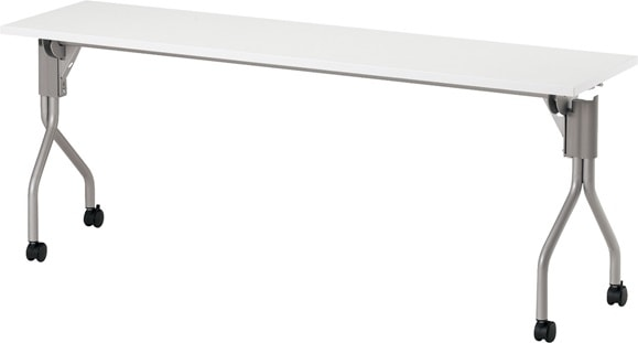 TM1860TA-M 長方形:幅180×奥行60×高さ70cm ミーティングテーブル 会議テーブル スタック 塗装脚 キャスター付 幕板無し