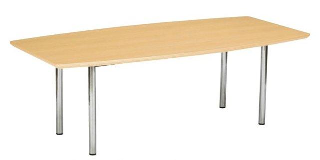 TM2110TW-CZ 大型:幅210×奥行100×高さ70cm ミーティングテーブル 会議テーブル 4本脚 クロームメッキ脚