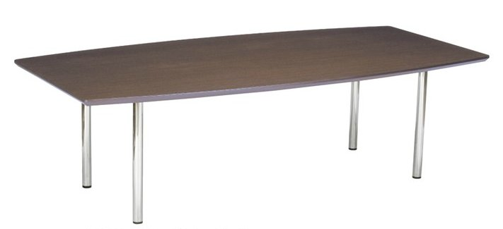 TM2412TW-CZ 大型:幅240×奥行120×高さ70cm ミーティングテーブル 会議テーブル 4本脚 クロームメッキ脚