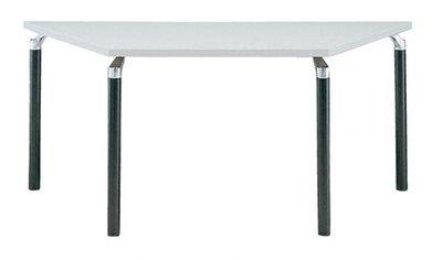 TM440-MZ 台形:幅165×奥行71.5×高さ70cm ミーティングテーブル 会議テーブル 4本脚 ブラック脚