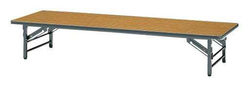 サンケイ K-2V 幅180×奥行60×高さ33cm 折りたたみテーブル 座卓 スチール脚 ソフトエッジ巻