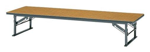 K-6V 長方形:幅180×奥行60×高さ33cm 折りたたみテーブル 座卓 塗装 スチール脚 ソフトエッジ巻 折りたたみ式 跡防止板付き