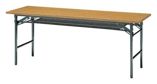 S-5 長方形:幅180×奥行75×高さ70cm 折りたたみテーブル 会議テーブル 塗装 スチール脚 共巻 折りたたみ式