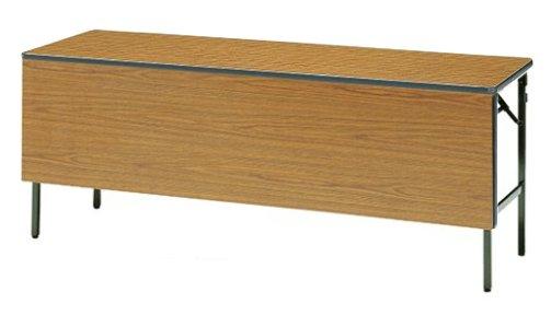 TM02-MZ 長方形:幅180×奥行60×高さ70cm 折りたたみテーブル 会議テーブル 塗装 スチール脚 ソフトエッジ巻 折りたたみ式 幕板付き