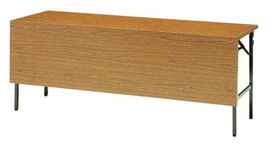 TM03-MZ 長方形:幅180×奥行45×高さ70cm 折りたたみテーブル 会議テーブル 塗装 スチール脚 共巻 折りたたみ式 幕板付き