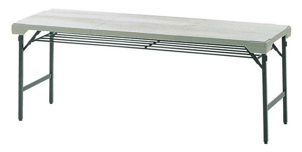 TM141-MZ 長方形:幅180×奥行62×高さ70cm 折りたたみテーブル 会議テーブル 粉体塗装 折りたたみ式