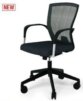 CO160-MYB_X1 オフィスチェア 回転椅子 ガススプリング上下調節 キャスター付 肘付 布張り ブラック色