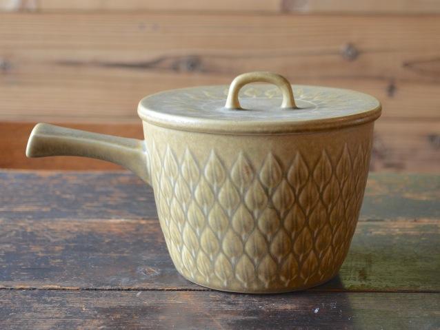 【中古】【ヴィンテージ陶器】クロニーデン Leaf ソースポット