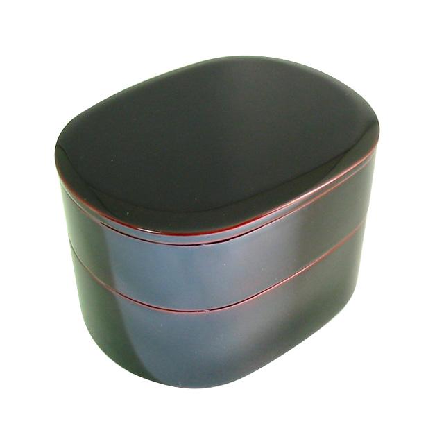 弁当箱 二段 京小判弁当 溜内朱 2段の漆塗りのランチボックス 仕切り付き 和食器 漆器
