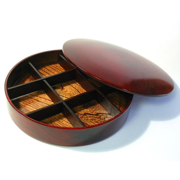 重箱 1段 オードブル ひびき お正月・おせちに木製漆塗りのお重箱(お弁当箱) 漆器