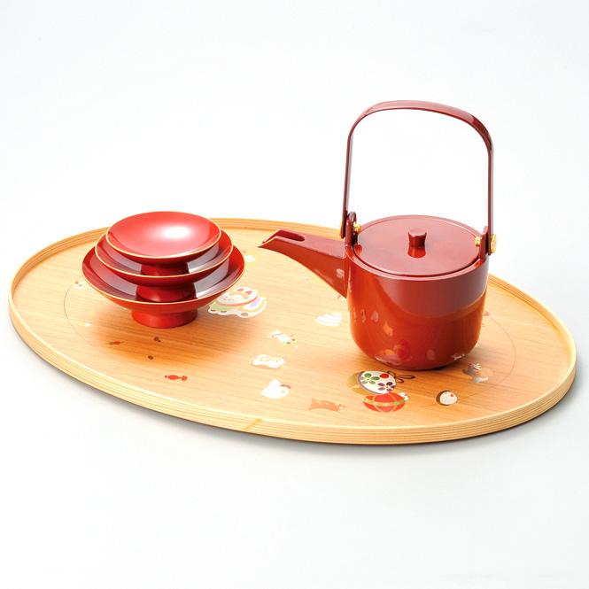 十二支卓上屠蘇器  【送料無料】 漆塗り・木製【お正月・おせちに】