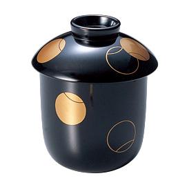 小吸物椀 つぼつぼ 黒 5客セット 木製 漆塗り