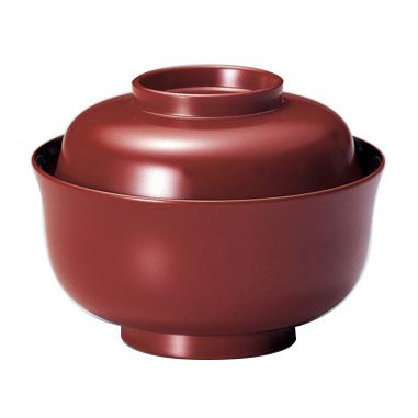 煮物椀 ちどり型 溜/古代朱 5客セット 漆塗り