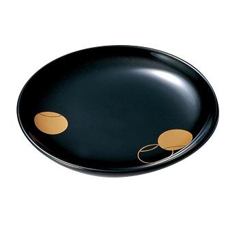 銘々皿 つぼつぼ 黒 5枚セット 木製 漆塗り 取り皿・小皿