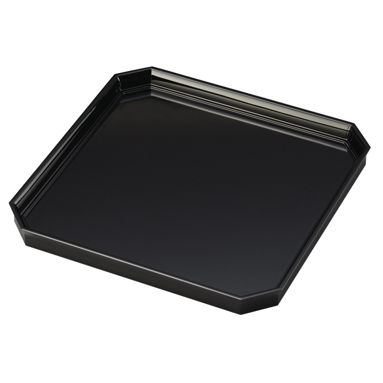 卓上膳 10.5 角切 黒 木製 漆塗り
