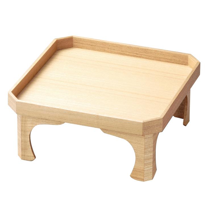 四つ足膳 白木塗 タモ 木製