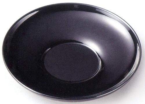 茶托 黒 4寸 5枚セット 【送料無料】【京都 漆器の井助】