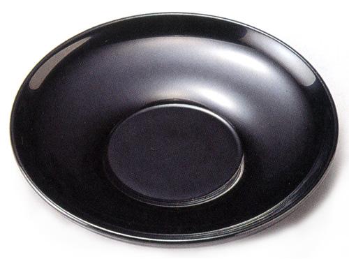 茶托 黒 3.5寸 5枚セット 【送料無料】【京都 漆器の井助】