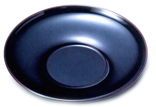 茶托 ダルマ 溜 5枚セット 【送料無料】【京都 漆器の井助】
