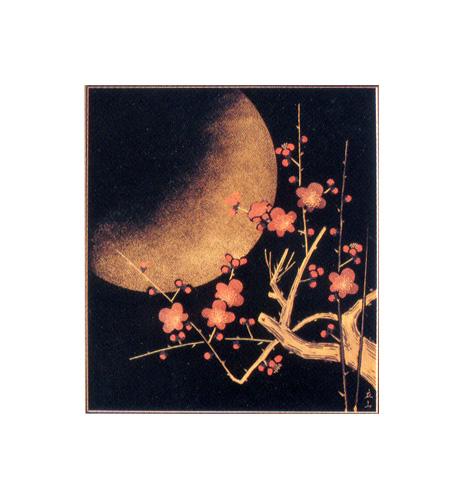 パネル 梅月 【送料無料】【京都 漆器の井助】