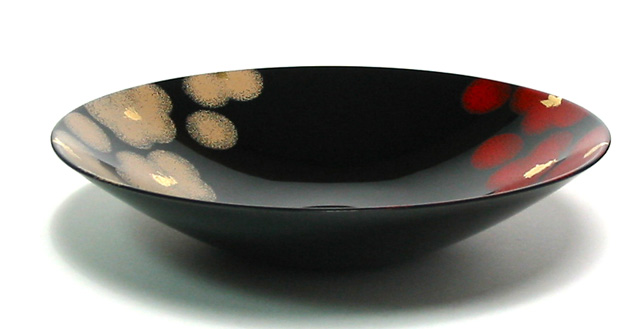 Bowl red and white flower [Kyoto lacquer ware Inoue Assistant Professor: lacquered chubachi ( Sheng pots / Sheng instrument / ball / candy Bowl) gift ( wedding gifts wedding gift services) and marriage and birth celebrations, 内 祝 I ( family) and return (