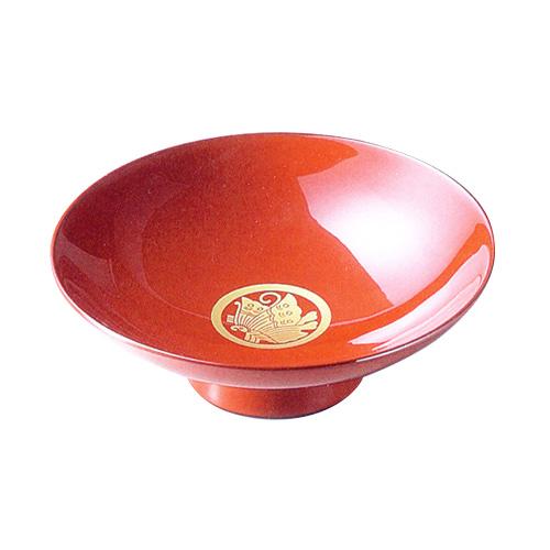 <食卓の小物>単杯 家紋入 朱 【送料無料】【京都 漆器の井助】
