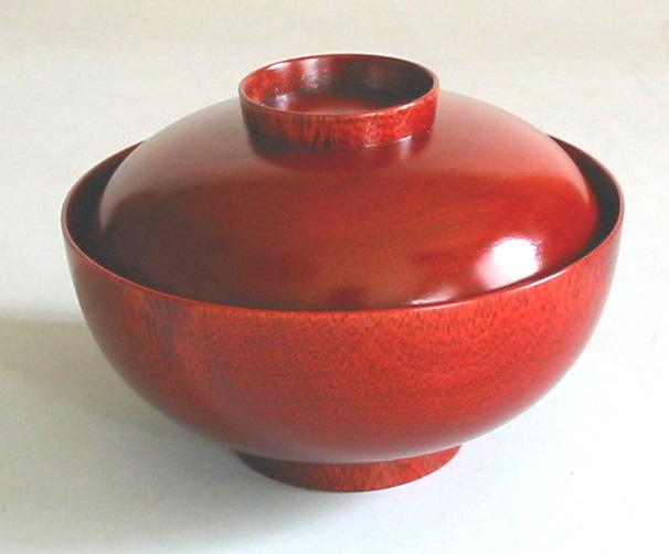 吸物椀 桜 茜(日本製)木製漆塗りの蓋付きのお椀(木のお椀)お正月におせちと一緒に 京都 漆器