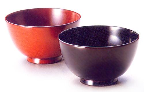 夫婦椀 古代朱・溜内黒|(日本製)木製漆塗りのペアの味噌汁椀(木のお椀2客セット) 結婚祝いに 和食器 漆器