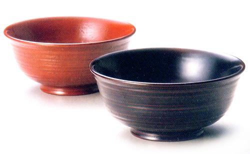 夫婦椀 荒筋 古代朱・溜|(日本製)木製漆塗りのペアの味噌汁椀(木のお椀2客セット)結婚祝いに 和食器 漆器