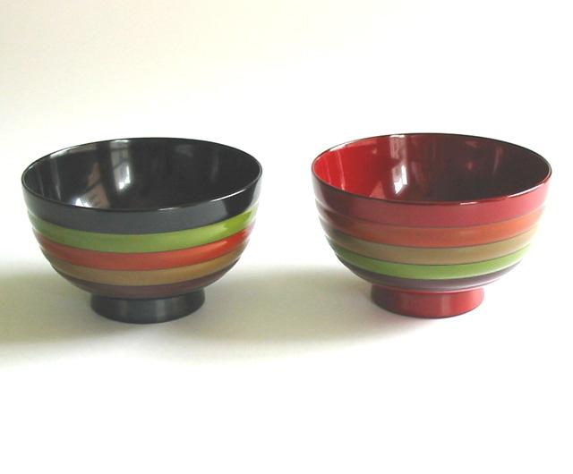 夫婦椀 独楽文様|(日本製)木製漆塗りのペアの味噌汁椀(木のお椀2客セット)結婚祝いに 和食器 漆器