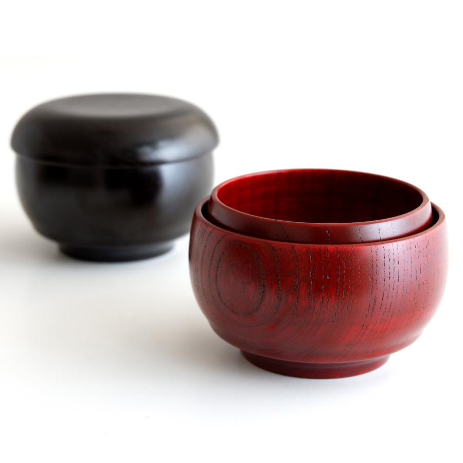 こわんさらセット 子供用のお椀とお皿セット (入れ子) 木製漆塗り