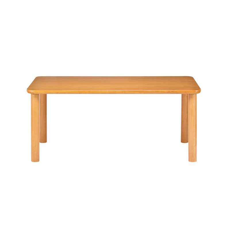 Care-TS1-16590 ダイニングテーブル 165cm×90cm 木製 高さ調節 ラバーウッド 長方形 ナチュラル 車椅子対応 強度 継脚 組み立て品 送料無料
