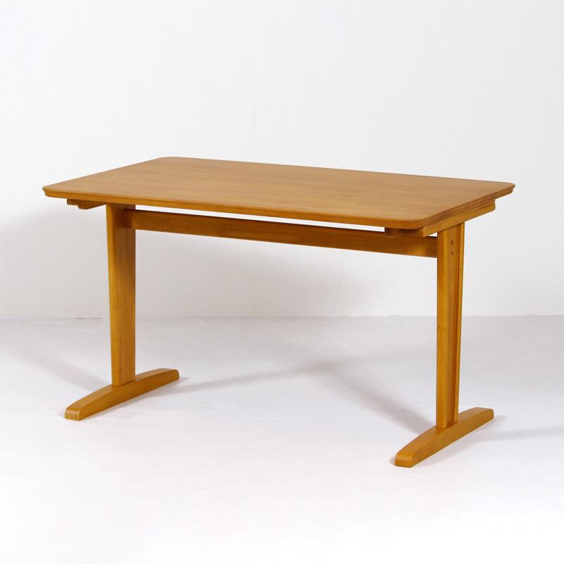 ダイニングテーブル テーブル 食卓テーブル 天然木 ラバーウッド 木製 机 作業机 120cm×75cm 4人掛け 4人用 ナチュラル シンプル 2本脚 F★★★★ ダイニングテーブル 120cm×75cm 木製 ラバーウッド突板 長方形 2本脚 コンパクト おしゃれ シンプル ナチュラル 組み立て品 送料無料 FA752-120 Table