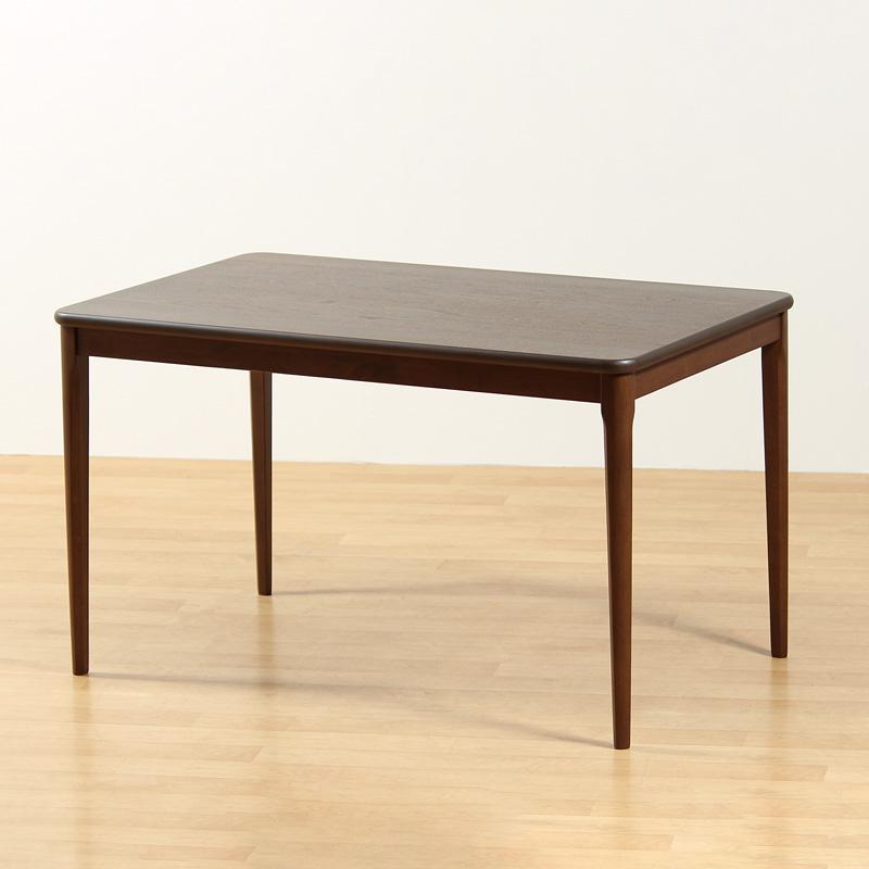 ダイニングテーブル 食卓テーブル 120cm×75cm 木製 ウォールナット突板 長方形 4本脚 コンパクト おしゃれ シンプル レトロ モダン クラシック 組み立て品 送料無料 LT754-120 Table